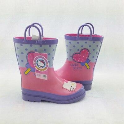 HELLO Kitty Mickey Kids font b Rain b font font b Boots b font Cartoon Princess