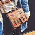 Paquete nuevo de la manera de las mujeres de la moda retro cartero paquete mickey parche personalidad bolso de los bolsos