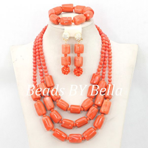 Wonderful African Coral Beads Jewelry Set Nigerian Beads Necklace African Costume Jewelry Set 2017 New Free Shipping ABC1105Wonderful African Coral Beads Jewelry Set Nigerian Beads Necklace African Costume Jewelry Set 2017 New Free Shipping ABC1105