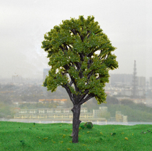 169MM middle green color  Railroad Layout Architectural model making materials scale plastic tree