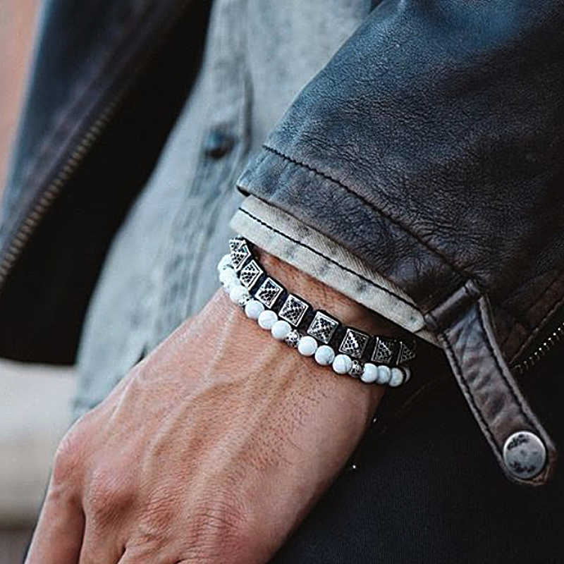 Bransoleta ze stali nierdzewnej mężczyzn/bransoletki przyjaźni/opony z kolcami/z cyrkoniami/modny/pleciony/piramida/korygujący/wiązane/ bransoletka wysokiej jakości biżuteria prezent