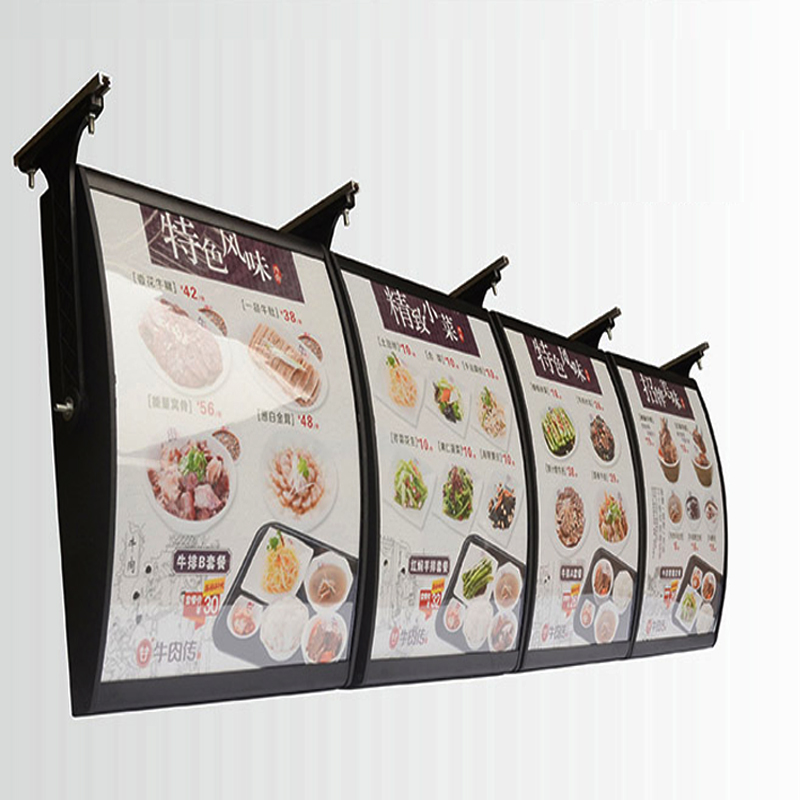 (3 Graphics/column) Hanging Style Single Sided Menu Light Boxes & Menu Signs for Restaurant Take away
