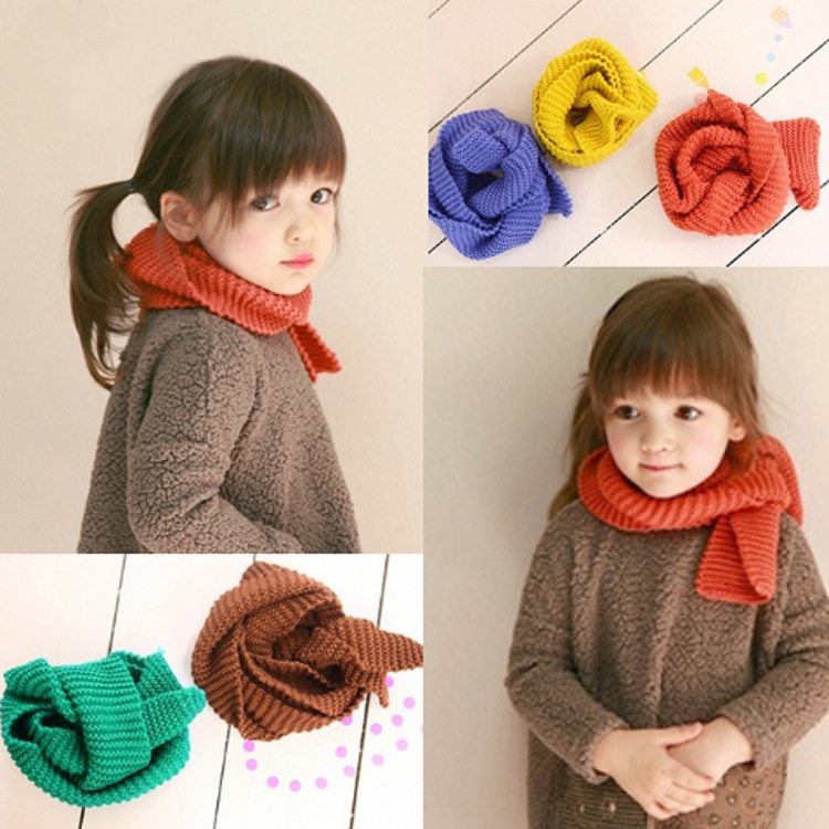 Baby Kids Winter Knitted Scarf Wrap Muffler O Ring For Girls Boys 2019 Free Shipping