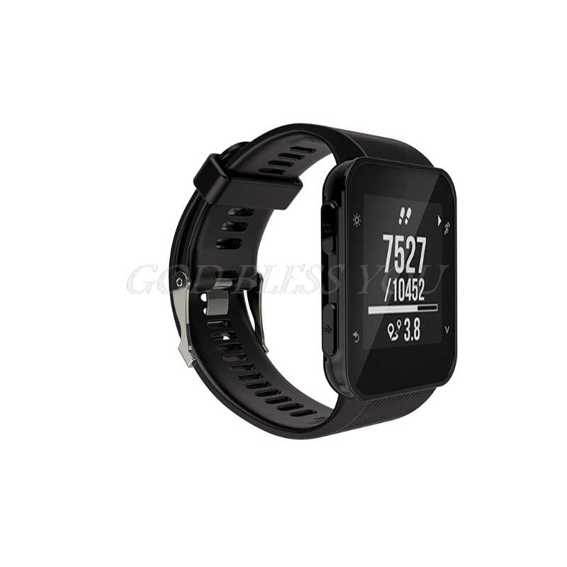eb3efd96b9bd0a ... 1Set Silicone Replacement Wrist Band Strap For Garmin Forerunner 35  Sports GPS Watch ...