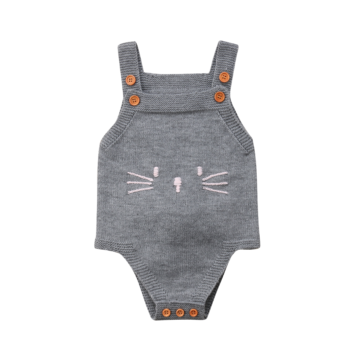 Baby Girl Sleeveless   Romper   Bunny Jumpsuit Knited Clothes Warm Autumn Cute Newborn Baby Girl Infant Knit Cat 0-24M