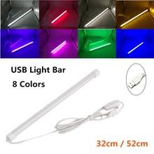 USB СВЕТОДИОДНЫЙ светильник 5 в Жесткая светодиодная лента для кухни с регулируемой яркостью алюминиевый светильник для шкафа светильник ing Теплый Холодный белый