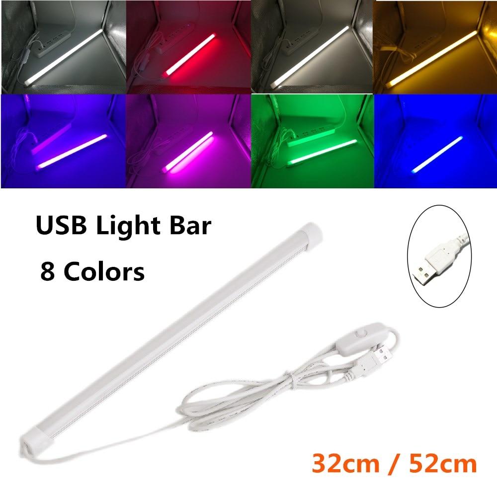 USB LED Light Bar 5V Rigid LED Strip for the Kitchen Dimmable Aluminum Light Bar for Under Cabinet Lighting Warm Cool White