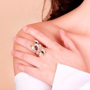Image 2 - GEMS בלט 925 סטרלינג כסף בעבודת יד אבני חן טבעת תכשיטי בסדר 2.04Ct טבעי אמטיסט פתוחות להתאמה עבור נשים