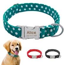Personazlied perro Collar personalizado Pet Collar Nylon Anti-Pérdida etiquetas collares gratis grabado para perro pequeño mediano grande