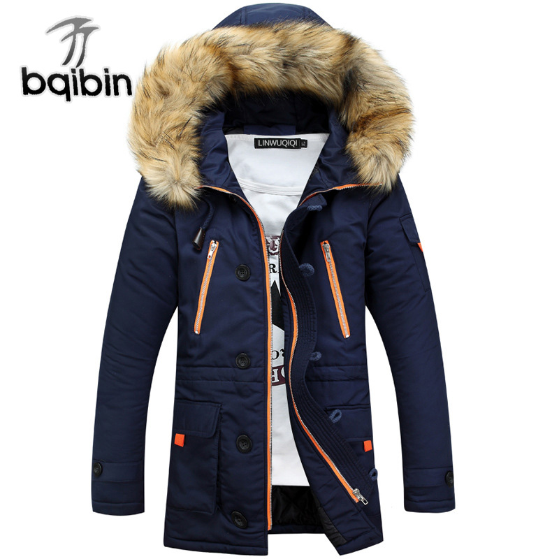 Winter Jacket Men 2018 Brand Casual Warm   Parka   Men Fashion Detachable Fur Hooded Collor Thicken Man Jackets Outwears