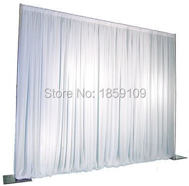 3M*3M Wedding Drapery curtain Pipe Stand/Wedding Decor Pipe frame/wedding flower stand/Stainess Steel Wedding Backdrop Stand(China)