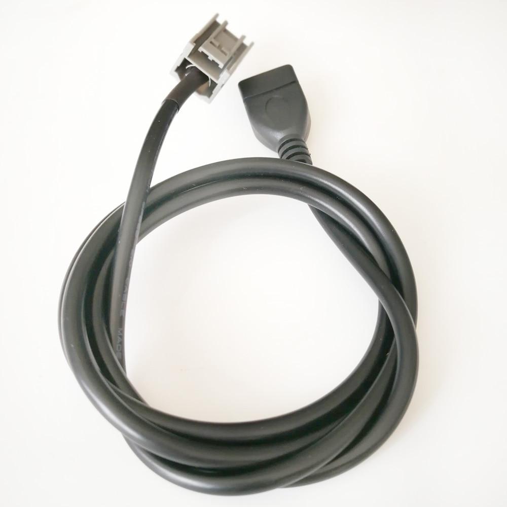 Biurlink Car USB Adapter Cable Support MP3 MP4 WMA USB Flash For MITSUBISHI Outlander ASX Lancer(China)