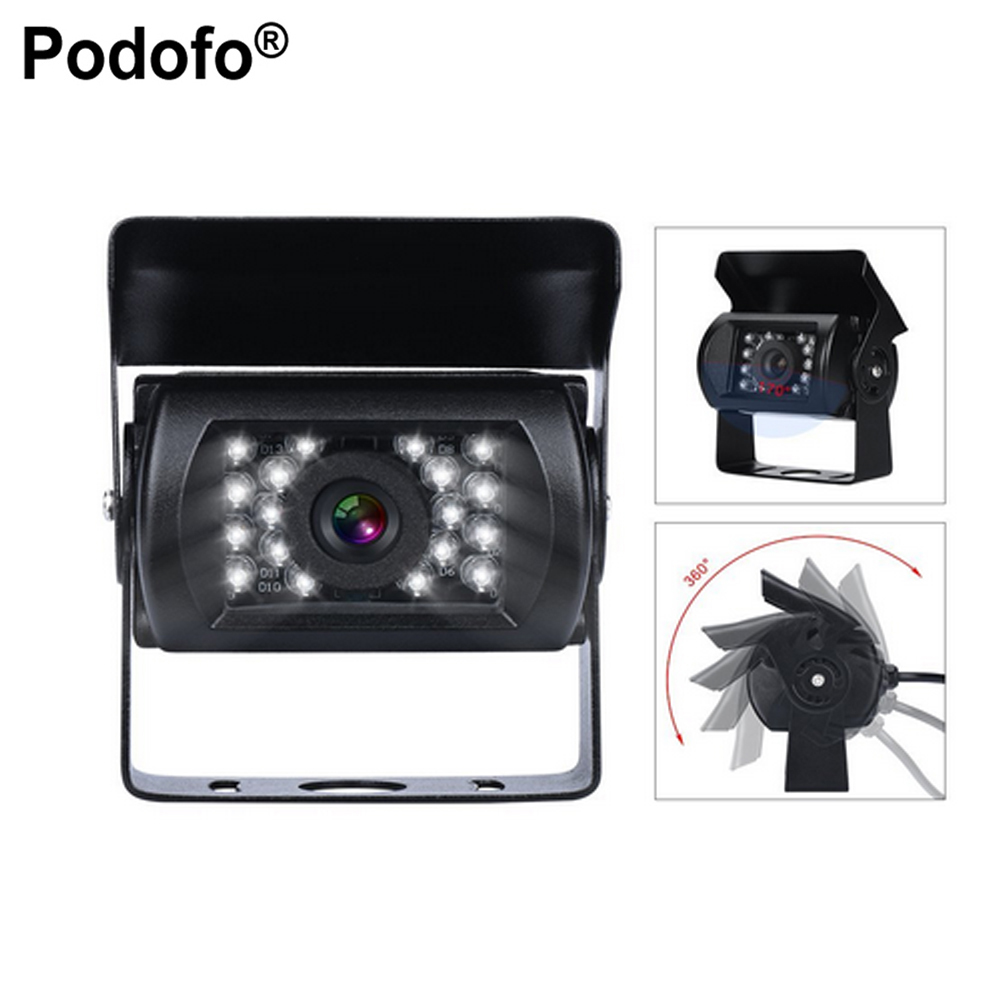 Podofo Bus & Truck Car Rear View Camera Reverse Backup IR Nightvision Waterproof Reversing Parking Kit Cam ir led car rear view ip network camera 720p backup reversing parking rearview cam night vision waterproof for truck bus page 1