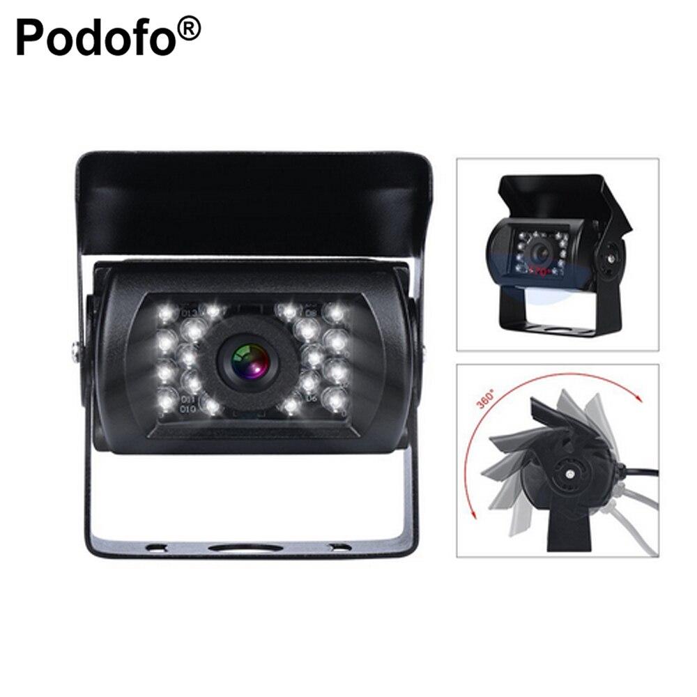 Podofo Bus & Truck coche cámara de visión trasera inversa ir nightvision impermeable que invierte el estacionamiento kit cam