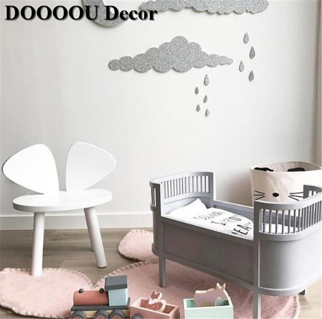 ins shining moon cloud raindrops hanging decorations children s room