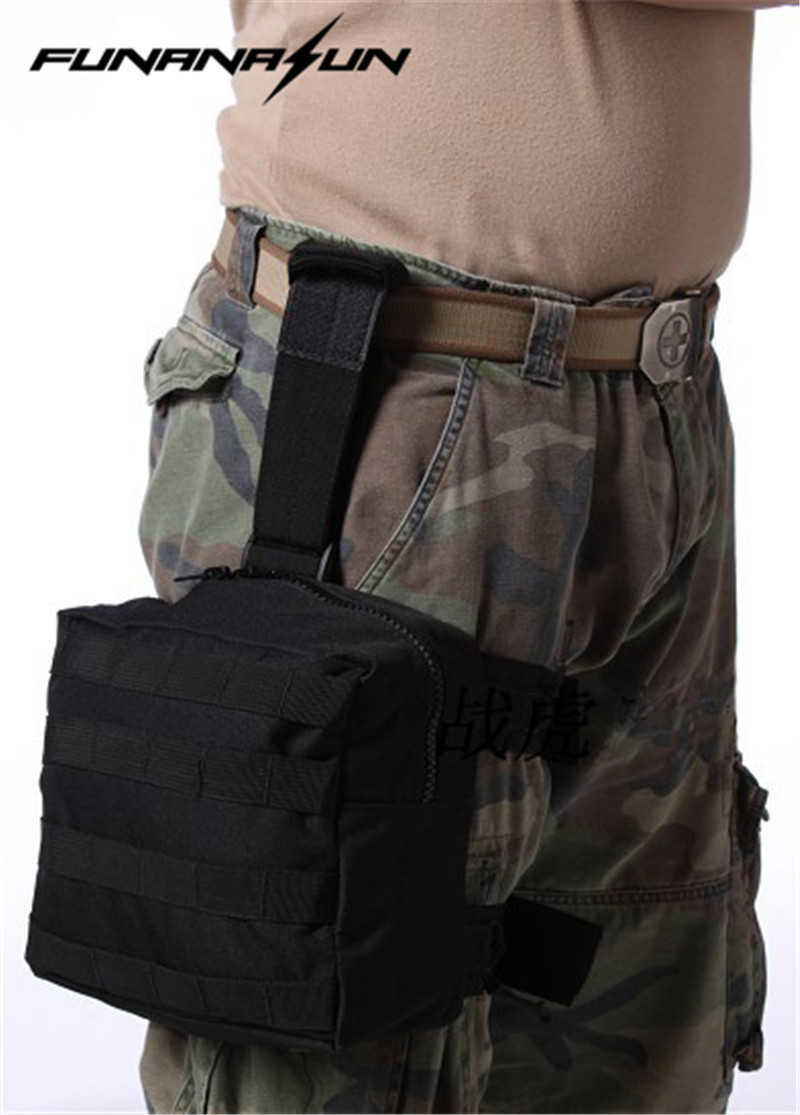 Tactical Drop Leg Pouch Panel MOLLE EDC Utility Gadget Pouch Bag Fanny Thigh Pack Versipack for Outdoor Hiking Cycling Hunting airsoft tactical bag 600d nylon edc bag military molle small utility pouch waterproof magazine outdoor hunting bags waist bag