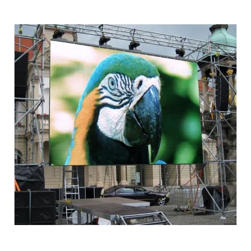 High Quality Super Bright P4.81 smd LED display 500*500mm Die Casting Aluminum Cabinet Rental RGB Outdoor Waterproof LED Screen