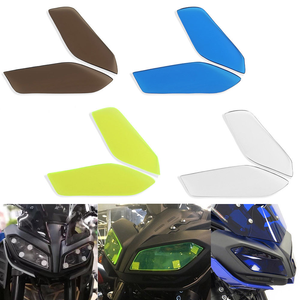 MT09 FZ-09 Acrylic Plastic Front Headlight Sheet Screen Lens Cover Protector Guard for 2017-2019 Yamaha MT FZ 09 FZ09 17 18