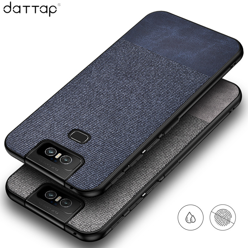 Luxury Cloth Fabric Case for <font><b>Asus</b></font> <font><b>Zenfone</b></font> <font><b>6</b></font> Case Leather Soft TPU Frame Hard PC Cover for <font><b>Asus</b></font> <font><b>Zenfone</b></font> <font><b>6</b></font> <font><b>2019</b></font> <font><b>ZS630KL</b></font> Case Funda image