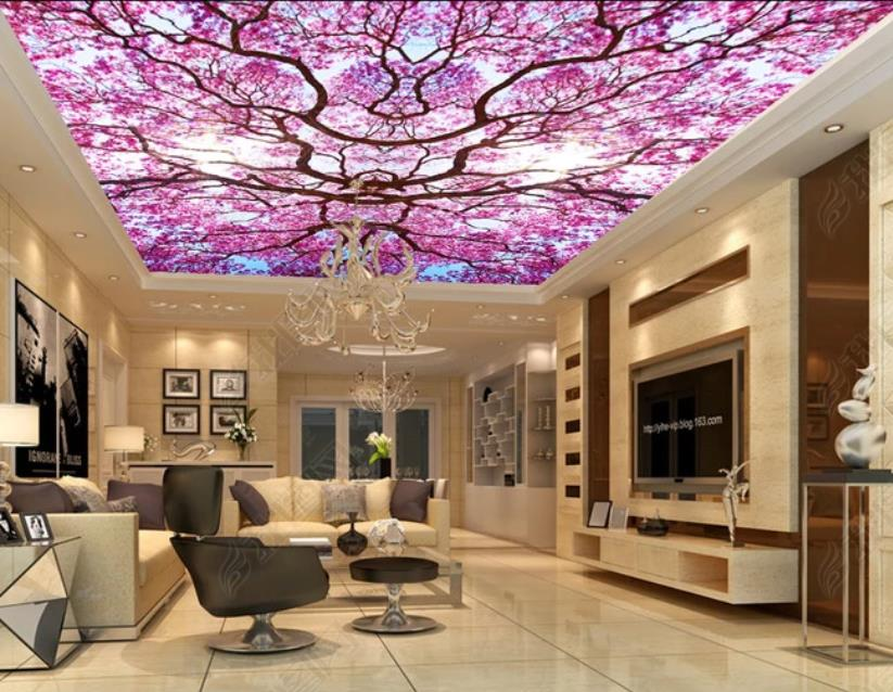 Walpaper For Room 3d Ceiling Sky Tree Photo Wall Paper Mural 3d Wallpaper Ceiling Wallpaper Mural 3d Wallpapers Aliexpress