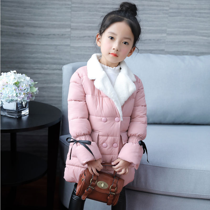 Winter Jacket for Girls Clothing Thicken Hooded Warm Kids Winter Outerwear Coats 2018 Fashion Girls Winter Coat Baby Clothes girls coat new 2017 fashion thicken outerwear coats solid kids warm jacket hooded girls winter jackets 5 14y children costume