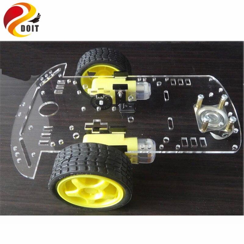 Oficial doit inteligente robot car chasis con velocidad encoder rc de control re