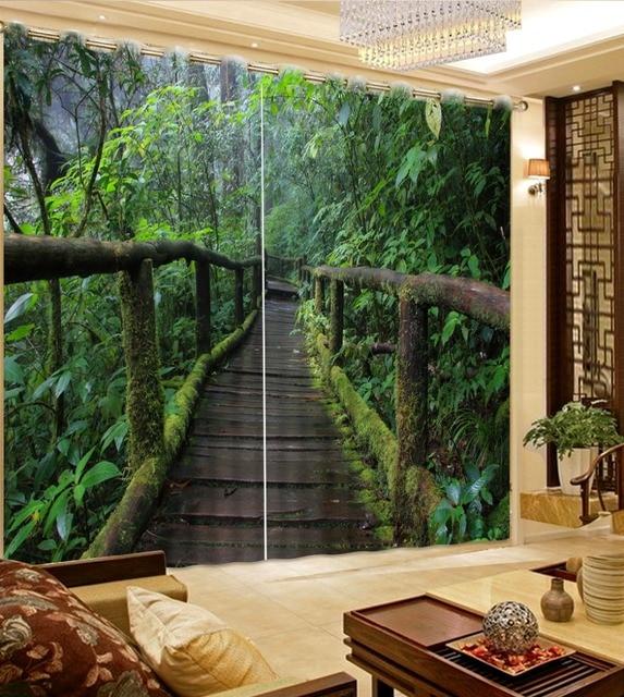 Moderne 3D Fenster Vorhang Benutzerdefinierte wald Küche Vorhang ...