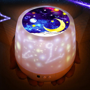 Sky Projector Night Light Colorful Starry Rotating LED Nightight Rotation Starry Moon Night Lamp USB Charging For Birthday Gift colorful starry sky projector night light rotation starry moon night lamp usb charging for birthday gift romantic baby children