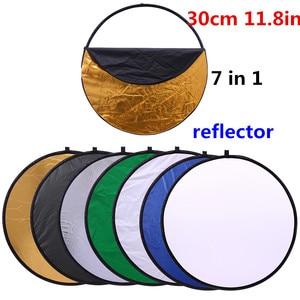 "Image 1 - Cy 12in 30 ס""מ 7 ב 1 מתקפל אור העגול צילום רפלקטור נייד לסטודיו multi דיסק תמונה אביזרי צילום"