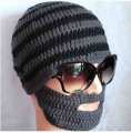 New Arrival free shipping Beard Hat Knit Beard Hat Gray/Yellow/Blue/Orange-U Choose