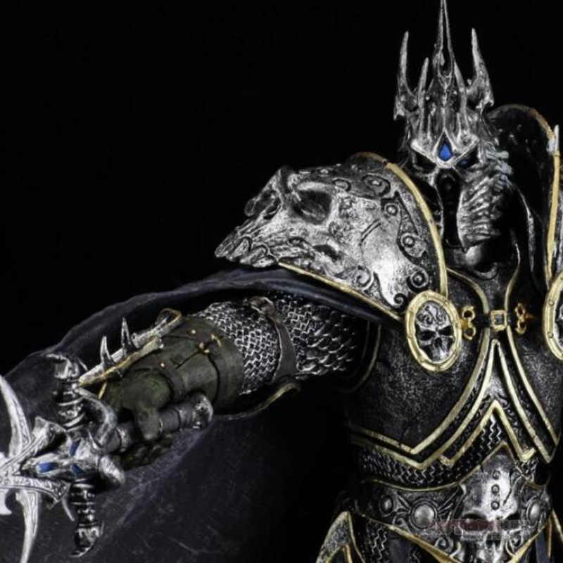 22cm Toys Dc7 Wow Fall Of The Lich King Arthas Menethil Pvc Anime Action Figure Model With Base F Kids Or Child Gift Decoration