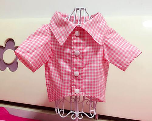 Spring autumn dogs cats fashion grid shirt costume doggy cool wedding shirts clothes puppy t shirt pet dog cat suit 1pcs
