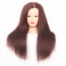 40% Human Hair Mannequin Heads Hairdressing Training Practice Head Styling Mannequins Doll