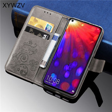 Huawei Honor V20 Case Luxury PU leather Cover Flip Wallet Phone Case Card Holder Fundas Back Cover For Huawei Honor View 20 Case стоимость