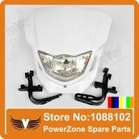 Moto Dirt Bike Head Light Lampe Rue Fantôme Combattant Fit KAYO IRBIS ABM Pit Pro CRF YZF Shiping Libre