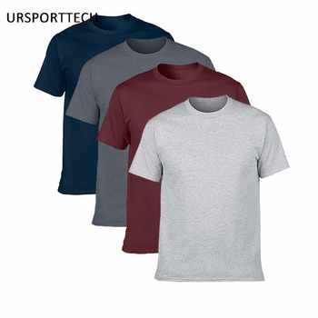 Buy Two Get Two Cotton Men's T-shirts Classical 2017 Short Sleeve O-neck tshirt Solid Color Summer Loose Basic T-shirts For Men - DISCOUNT ITEM  29% OFF All Category