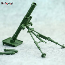 1/6 Scale Accessories in Action Figure Model Toy 1/6th Military Army Combat Soldier Mortar Green Gun Weapon Arms Parts Plastic 1 6 world war ii soldier weapon mg42 machine gun model fit 12action figure toy