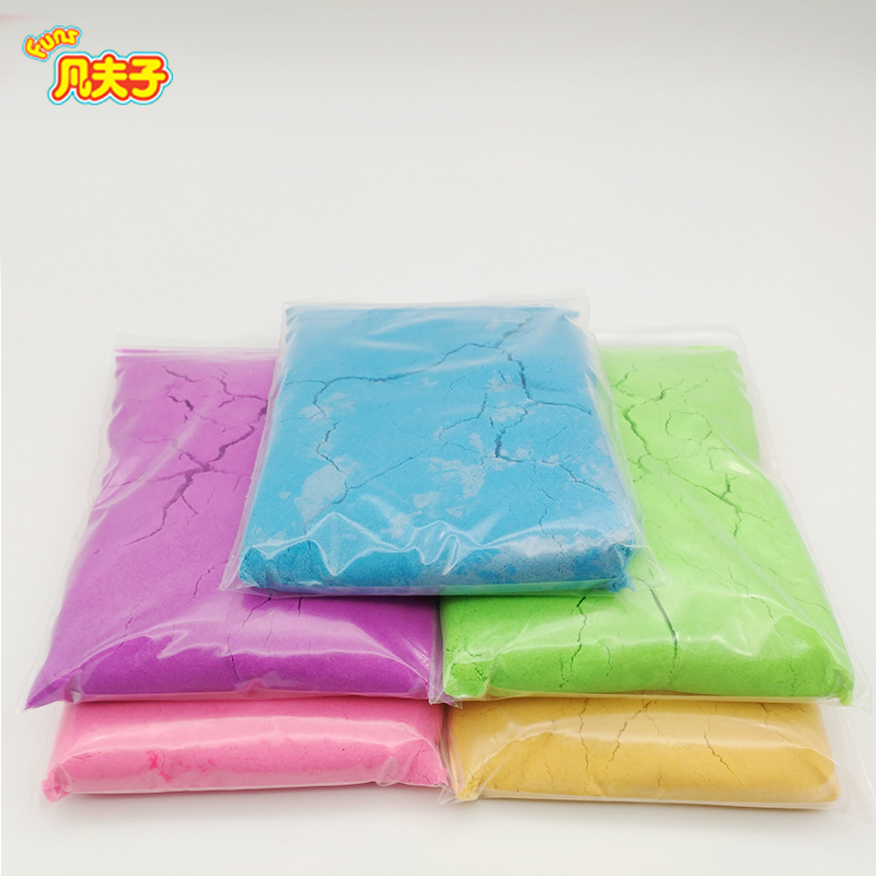 Dynamic Sand 5colors*200g/ bags Polymer Clay Amazing Diy Plasticin Magic Play Do Dry Sands Mars Space Sand Polymer Clay For Kids