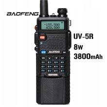 Baofeng UV 5R 8W 3800mAh batterie talkie walkie 128 double bande Radio bidirectionnelle UHF & VHF 136 174MHz & 400 520MHz radioémetteur récepteur