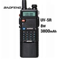 Baofeng UV 5R 8W 3800mAh Battery Walkie Talkie 128 Dual Band Two Way Radio UHF&VHF 136 174MHz&400 520MHz Ham Radio Transceiver