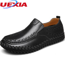 Handmade Moccasins Leather Men Shoes Casual Fashion Designer Cool Shoes Casual Breathable Rubber Bottom Comfort Loafers Slip-on