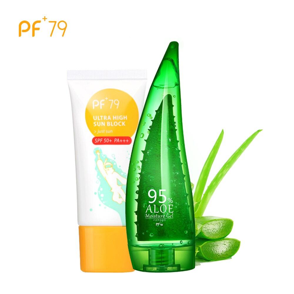 PF79 Skincare Sunscreen After Sun Health Whitening Anti Aging Sunburn Brightening Aloe Moisture Gel Aloe Vera Gel Sunblock