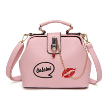 Luxury Brand Women Handbags Red lips Shoulder Cross-body Bags