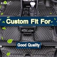 RKAC индивидуальные полный Крытая автомобильные коврики для Volkswagen Sharan 7 стульчики Детские Водонепроницаемые ковры кожа водонепрониц