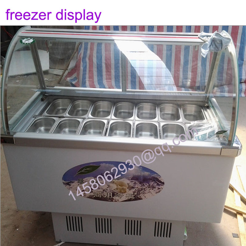 14 Taste Display Refrigerator Food Freezer Ice Cream Display Cabinet Ice Cream Display Freezer