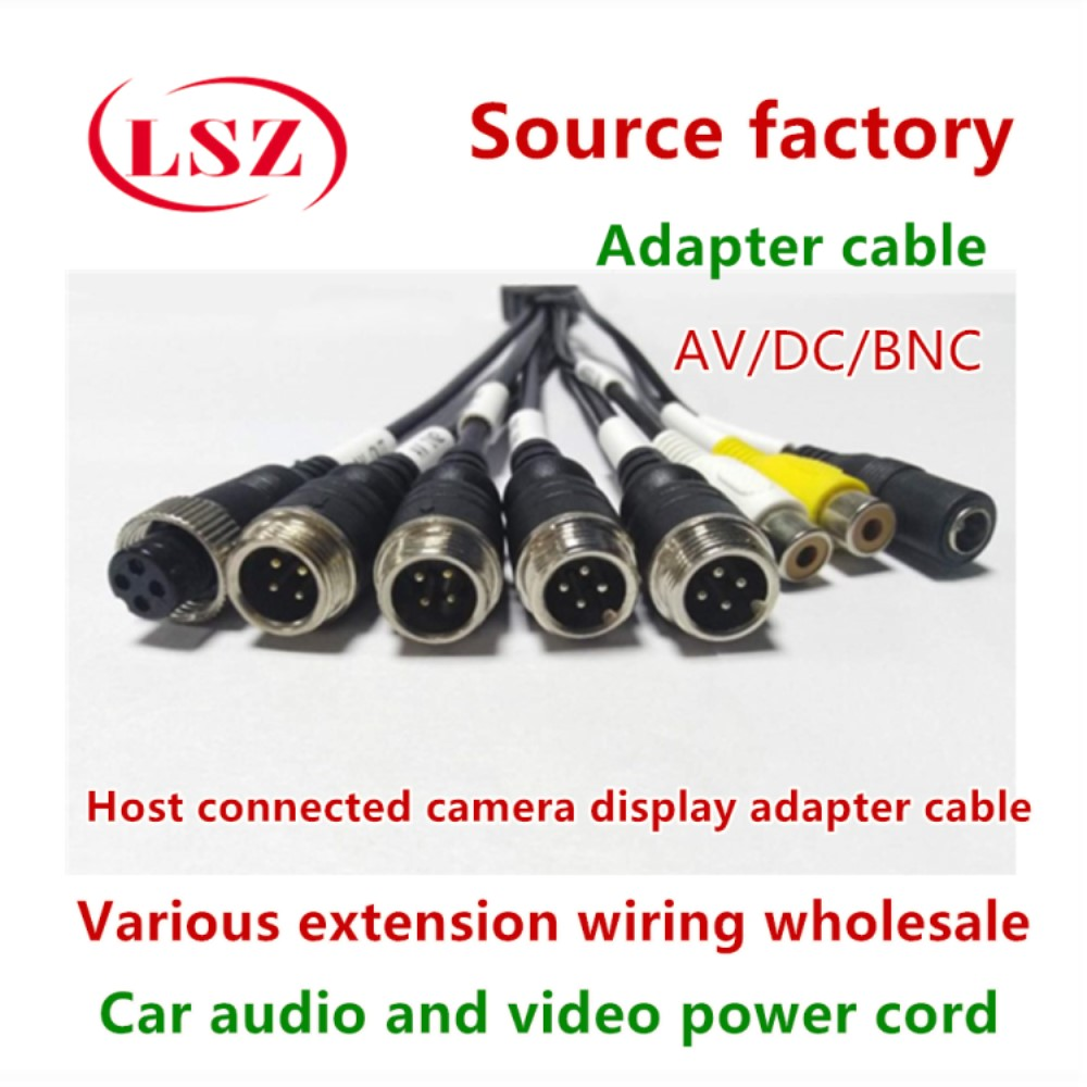 Factory Direct Car Monitoring Host Camera Audio Cable Car Conversion Line Lotus Head Aviation Head Male To Female Connection Lin