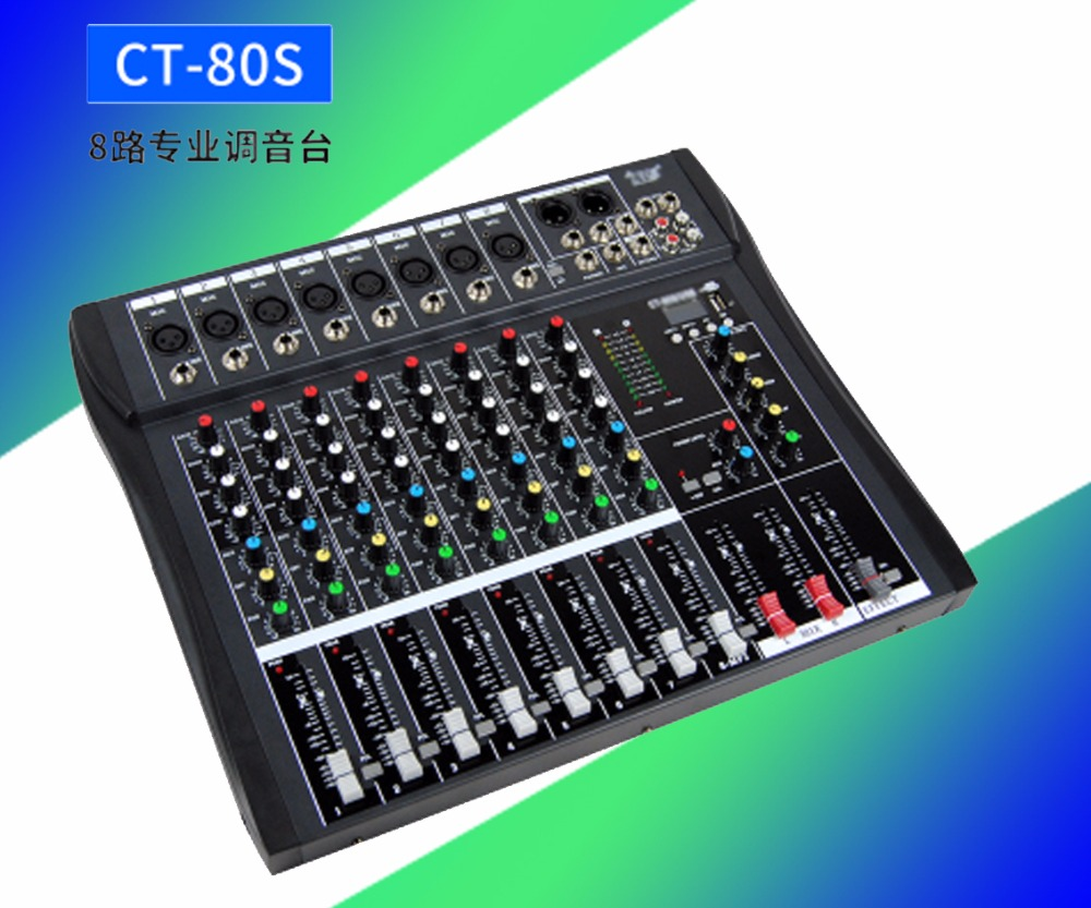 цены Professional 8 channel mixer, with Bluetooth USB console, microphone professional mixer, high quality