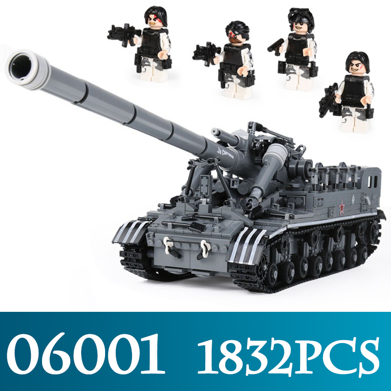 Creative MOC Military Series 06001 3663Pcs The T92 Tank Model Building Kits Children Assembly Blocks Bricks Toys Christmas Gifts hot modern military t92 tank moc building block model bricks toys collection for adult children gifts