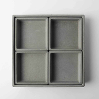 Concrete tray silicone mold cement storage tray silicone mold gypsum plate moldplate combination home storage tray mold