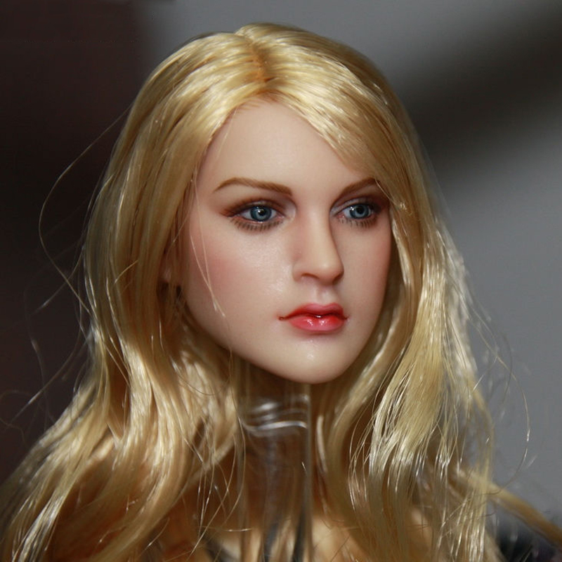 1/6 Scale Blonde Hair European & American Female KT007 Head Sculpts Model Toys For 12 Female Action Figures Accessory 2pcs for benz w221 benz s class amg s500 s350 s63 s65 2006 2013 led car door courtesy laser projector logo ghost shadow 3d light